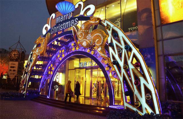 商场美陈之门头装饰-依塔斯商业美陈景观设计创业者联盟图片